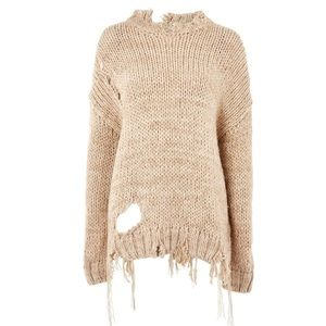 New Topshop destroy sweater size S NWOT